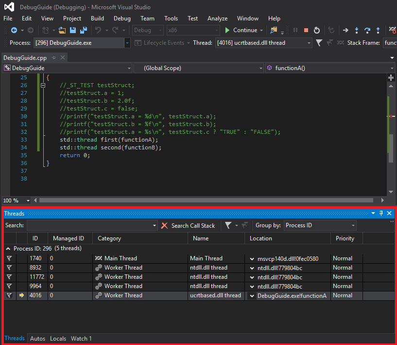 Kỹ thuật debug trên Visual Studio | CppDeveloper